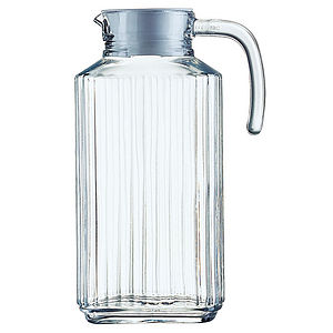 Ribbed Glass Jug - alfresco dining