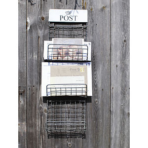 Zinc Post Rack - storage