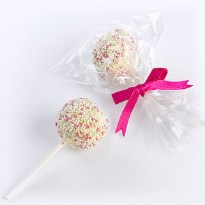 Six Cake Pops - wedding favours