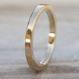 Handmade 2mm 18ct Gold Wedding Ring - rings