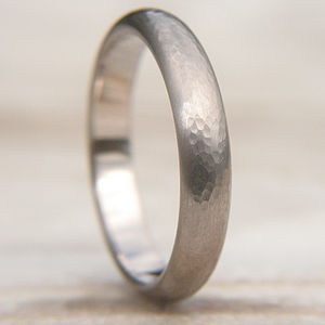 Handmade 18ct Gold Hammered Wedding Ring