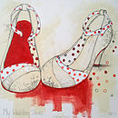 Personalised 'Favourite' Shoes Art