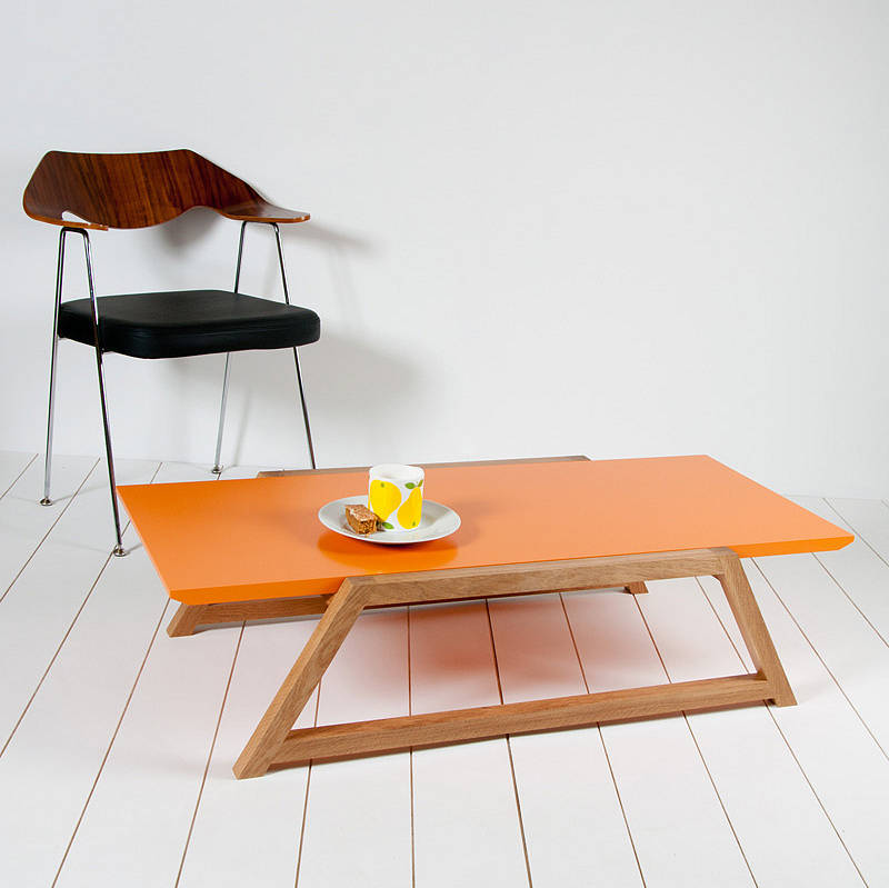 Cantilever coffee table by obi furniture for Orange coffee table