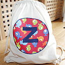 Child's Personalised Fish Gym/Kit Bag