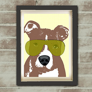 American Pit Bull Terrier Dog Print