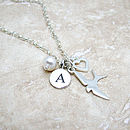 Personalised Silver Swallow Necklace