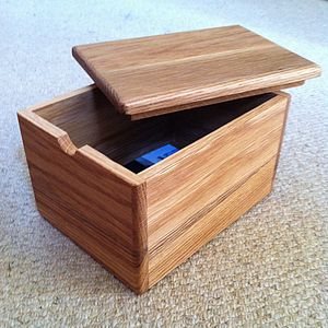 Personalised Wooden Time Capsule - storage & organising