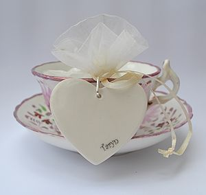 Personalised Wedding Favour Hearts - table decorations