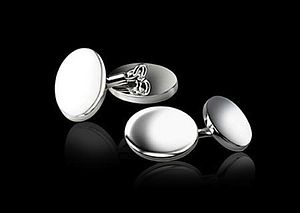 Personalised Silver Plated Oval Cufflinks - jewellery for her