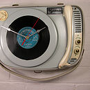 Personalised Vintage Supraphone Record Clock