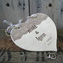Lace Detail Personalised Wedding Heart