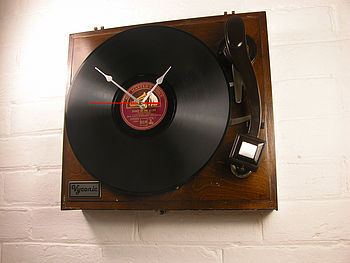 Personalised Vintage HMV Record Player Clock