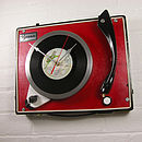Personalised Upcycled Record Player Clock