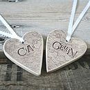 Personalised Lace Overlay Heart Decoration