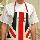 Personalised union jack apron - adult