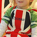 Personalised union jack apron - child