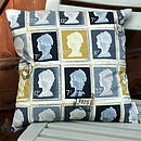 Grey Postage Stamp Cushion