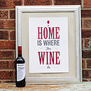 'Home Is Where The Wine Is' Print
