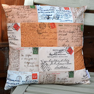 Postcard Cushion - cushions