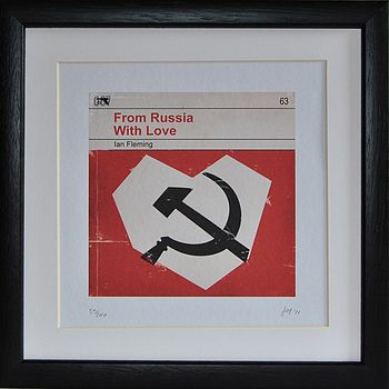 'From Russia With Love' Framed Redesign Print