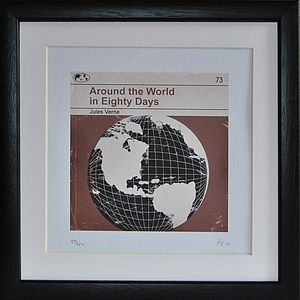 'Around The World' Framed Redesign Book Print - home accessories