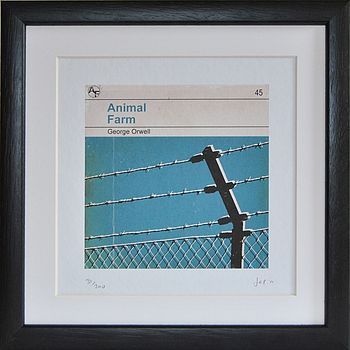 'Animal Farm' Framed Redesign Book Print