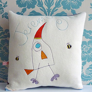 Personalised Bird And Bee Cushion - personalised cushions