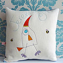 Personalised Bird And Bee Cushion