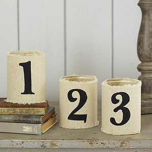'123' Fabric Tealight Holders - candles & candlesticks