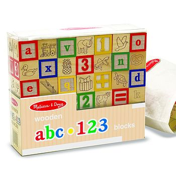 Wooden ABC Alphabet Blocks