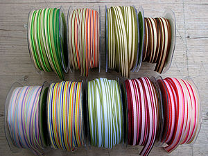 Candy Striped Grosgrain Ribbon - shop by category