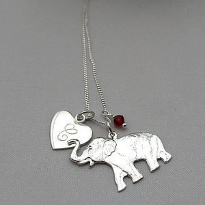 Personalised Silver Lucky Elephant Pendant