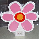 Girls Pink Flower Nightlight
