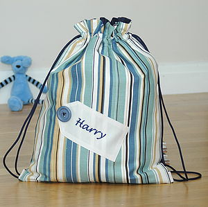 Boy's Personalised Kit Bag Embroidered Tag