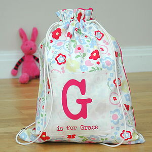 Girls Personalised Kit Bags Printed Name
