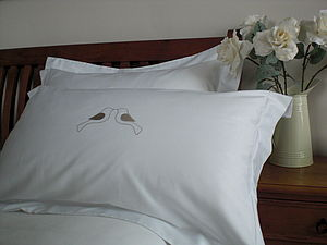 Love Birds Egyptian Cotton Pillowcase - bedroom