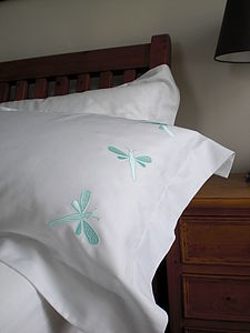 Dragonflies Egyptian Cotton Pillowcase - bed, bath & table linen