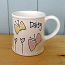 Personalised Hand Painted Butterfly Mug