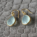 Aqua Chalcedonay Drop Earrings