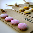Vintage Fabric Buttons Gift Tag