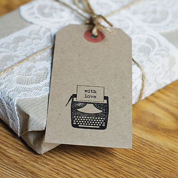 Six Hand Stamped Gift Tags