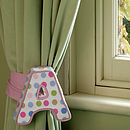 Personalised Love Letter Curtain Tie Backs