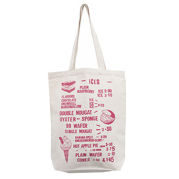 Seaside Cafe 'Delicious Ices' Tote Bag