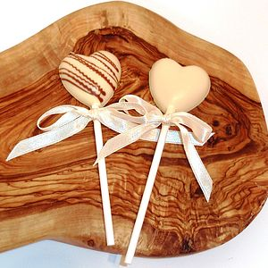 Mini Chocolate Heart Lollipop - wedding favours