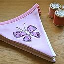pink and lilac butterfly bunting