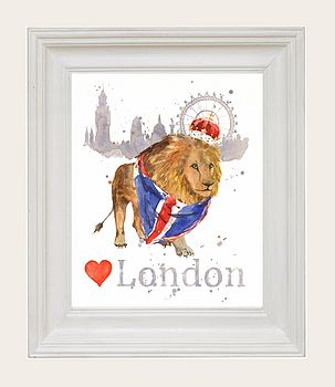 Jubilee Patriot Lion Fine Art Print