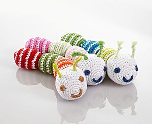 Fair Trade Crochet Caterpillar Rattle