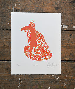 Mr Fox Limited Edition Screen Print - limited edition art