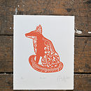 Mr Fox Limited Edition Screen Print