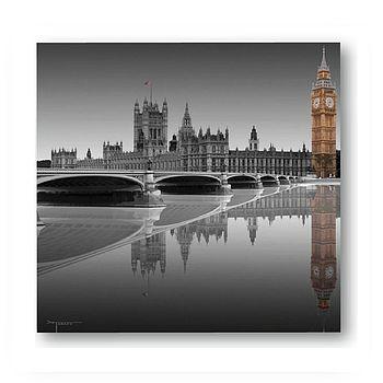 London Big Ben Print On Glass